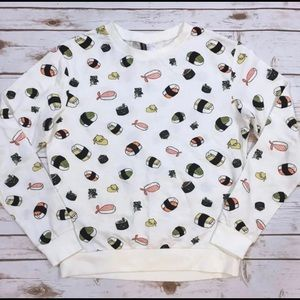 H&M sushi Nigiri avocado shirt size Large